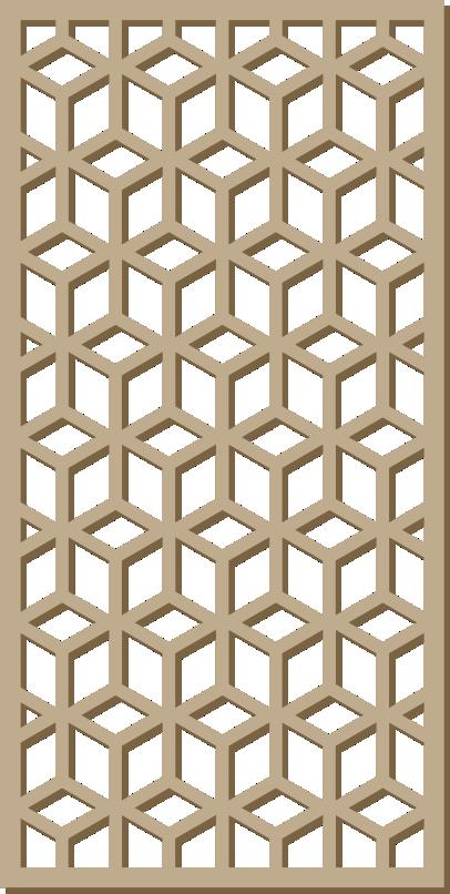 Декоративна решетка подходяща и за преградна стена